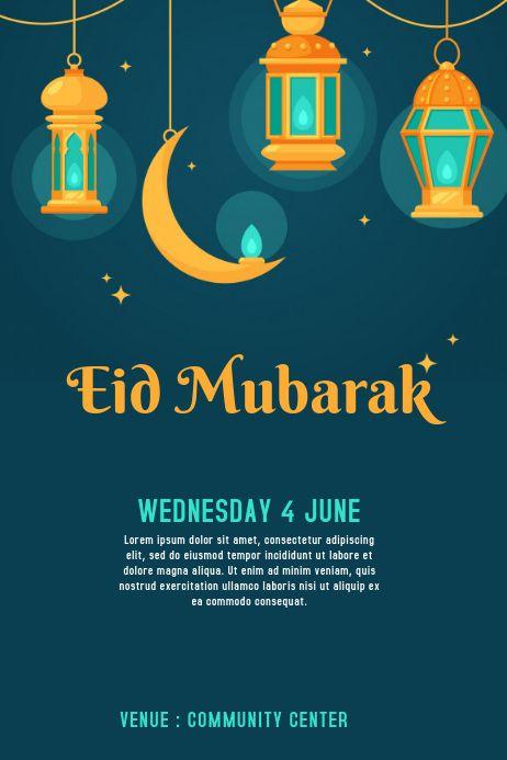 Eid Invitation Card Eid Card Template Invitation Card Maker Poster Template