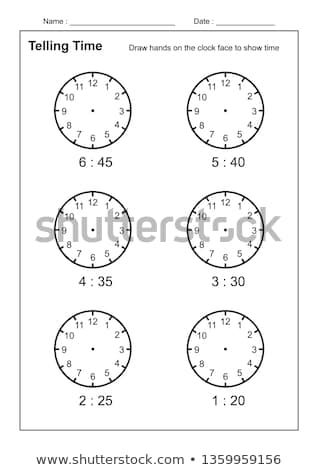 Telling Time Telling The Time Practice For Children Worksheets For Learning To Tell Time Game Time Worksheets Vector