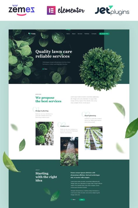 Visity - Landscape Design with Elementor WordPress Theme #86052