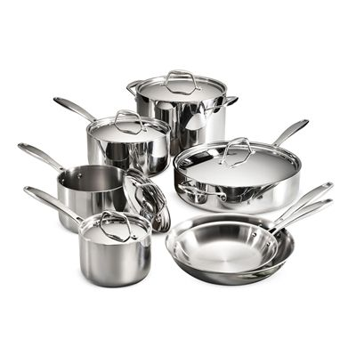 Tramontina Cookware Set 80116 249ds Gourmet Tri Ply Clad 12 Piece Cookware Set Stainless Steel Cookware Set Stainless Steel Cookware