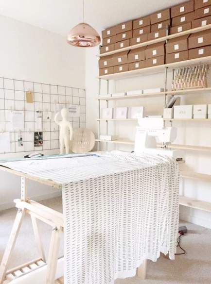 49 Ideas Sewing Studio Design Small Spaces Fashion Designer Studio Design Studio Office Design Studio Space