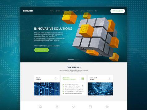 Enquizit Cloud Solutions Website Design Website Design Solutions Web Design
