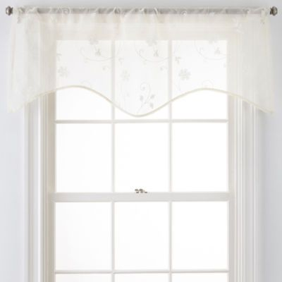Jcpenney Home Malta Rod Pocket Scalloped Valance Valance