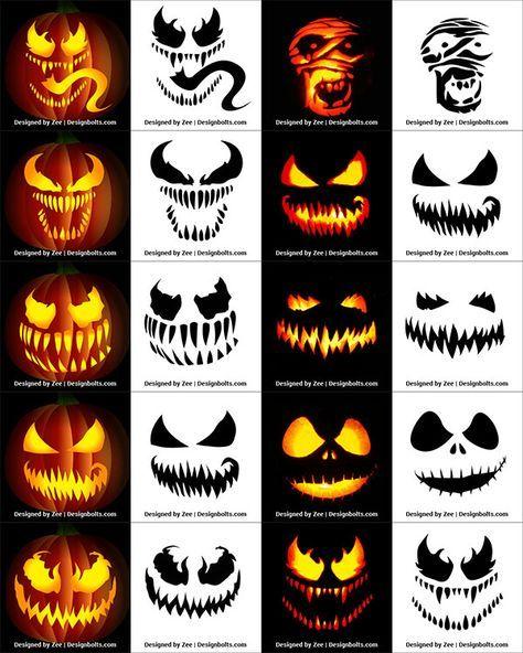 Halloween Pattern With Pumpkins On Dark Background 2