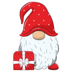 Christmas Gnome Clipart Eps Png Jpeg Nordic Gnome New Year Clip Art Christmas Gnome Christmas Drawing Nordic Gnomes