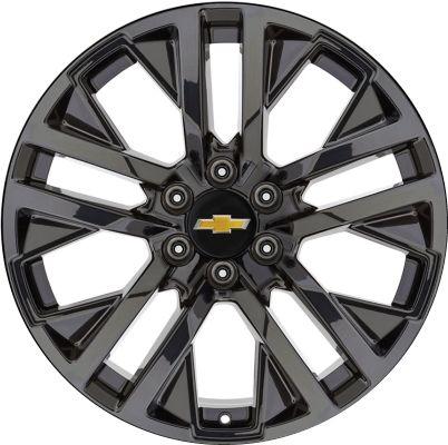 Aly5903u45 5902 Silverado Suburban Tahoe Sierra Yukon Wheel Black Painted 84253948 Silverado Wheels Chevy Rims 2014 Chevrolet Silverado 1500