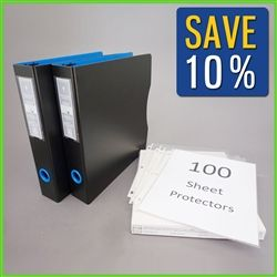 8 5x11 Letter Size Paper Document Binder With Plastic Sleeves Letter Size Paper Sheet Protectors Binder Journals