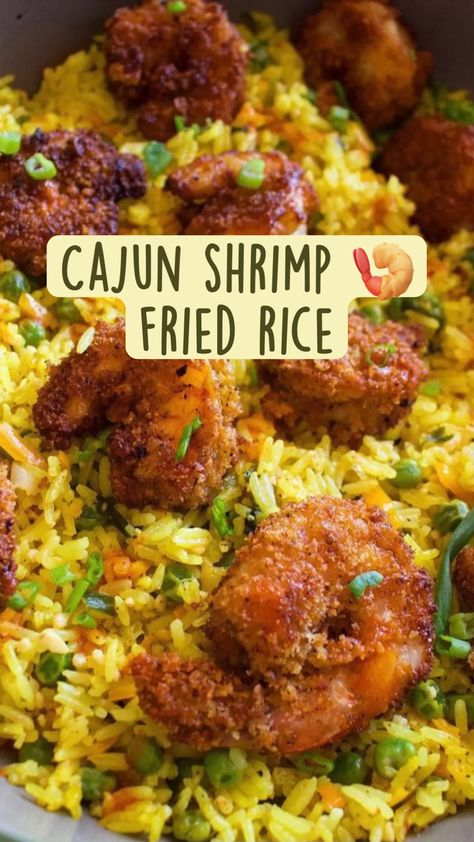 Cajun shrimp 🍤 fried rice