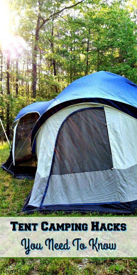 Tent camping, Camping hacks