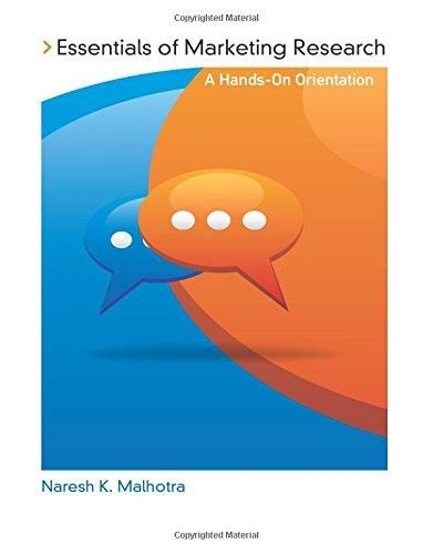 Essentials of Marketing Research: A Hands-On Orientation - Default