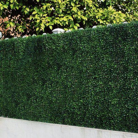Uland Artificial Boxwood Greenery Hedges Panels Decorative Privacy Fence Screening Uv Proof 100 Fresh Pe 20 X20 Pc Pack Of 12 Green Jade Walmart Co Artificial Hedges Artificial Plants Outdoor Artificial Plants