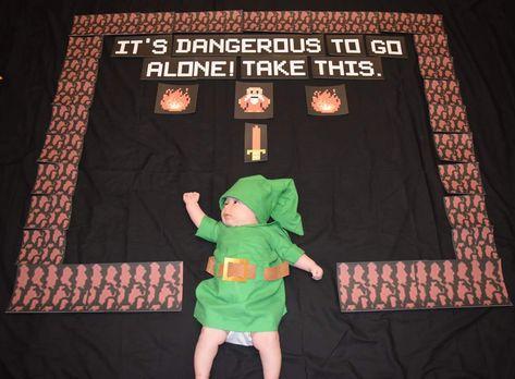 Legend of Zelda baby monthly photoshoot