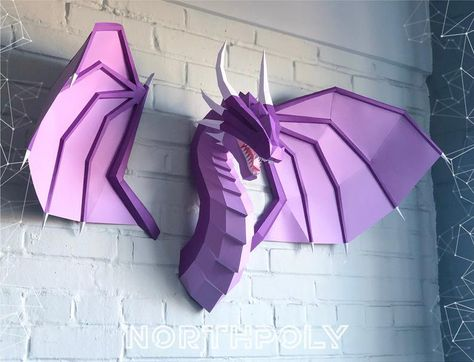 Awesome dragon with wings Northpoly Papercraft Dragon   Etsy
