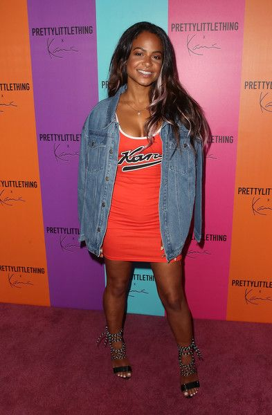 Singer/actress Christina Milian attends the PrettyLittleThing x Karl Kani event at Nightingale Plaza in LA.