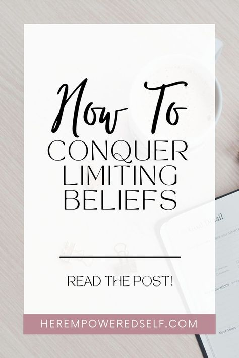 Learn how to conquer your limiting beliefs that are holding you back from living your greatest life. Discover 3 simple steps to get started! #mindset #mindsettips #personalgrowth