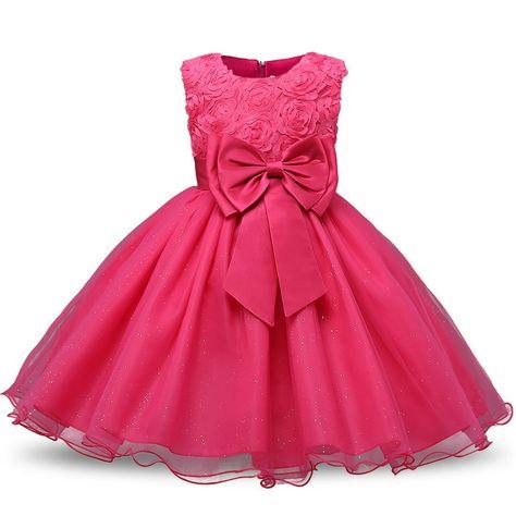 136d02727 Infant Princess Baptism Dress For Girl Kids Festival Party Wear Baby ...