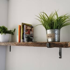 Scaffold Board Rustic Shelves Come In 12 Sizes 2 Brackets And All Fixings.Shelve