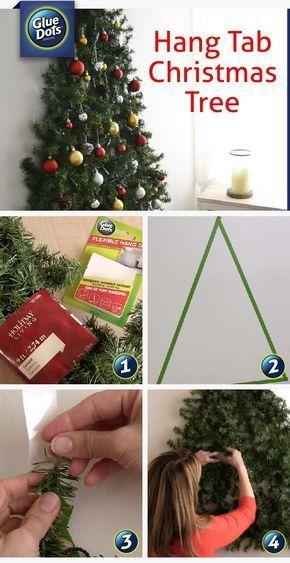 Pinterest Hangtab Christmastree Jpg Wall Christmas Tree Hanging Christmas Tree Alternative Christmas Tree