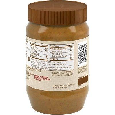 Jif Natural Creamy Peanut Butter 40oz Creamy Peanut Butter Peanut Butter Jif