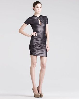 35e48e185c6 fashion   style - ShopStyle  Balmain Pierre Ruched Keyhole Dress ...