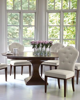 Bernhardt Haven 54 Round Dining Table With Leaf Round Pedestal