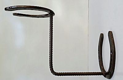 Blacksmith, American Made Horseshoe Cowboy Hat Rack, Horseshoes Worn by Horses