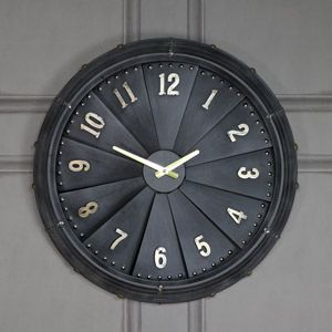 Large Retro Propellor Wall Clock Retro Clock Vintage Clock Industrial Propeller Aviation Aviation Furniture Retro Clock Wooden Clock