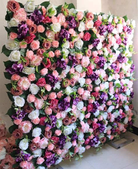 Wedding Flower Walls Wedding Backdrops Artifical Silk Rose | Etsy