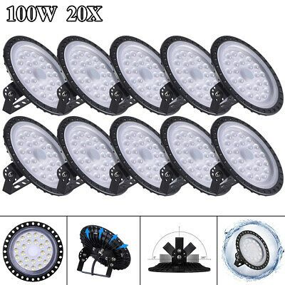 2X 100W UFO LED High Bay Light Gym Factory Warehouse Industrial Shed Lighting
