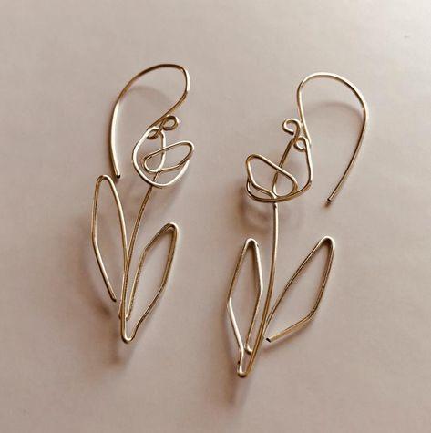 Dainty Jewelry, Resin Jewelry, Cute Jewelry, Jewelry Accessories, Handmade Jewelry, Jewelry Design, Unique Jewelry, Handmade Wire Earrings, Wire Jewelry Earrings