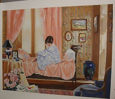Vintage bedroom scene