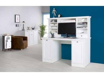 Schreibtisch Weiss Mit Aufsatz 2 Turen Und 2 Einlegeboden Aufsatz 2 Schubkasten 6 Schmale Und 1 Breiter Schreibtisch Schreibtisch Kaufen Burotisch