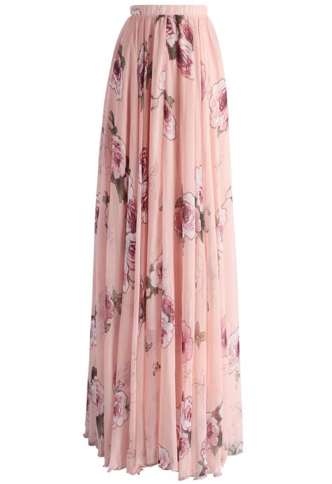 Pink Rose Panache Maxi Skirt - New Arrivals - Retro, Indie and Unique Fashion
