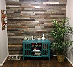 Amazon Com Epic Artifactory Reclaimed Barn Wood Wall Panels Diy Peel And Stick Easy Installation Reclaimed Barn Wood Wall Wall Paneling Diy Wood Panel Walls