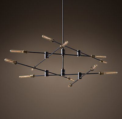 Kinetic 2 Tier Chandelier Ceiling Lights Cool