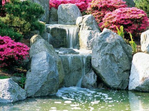Exotischer Bachlauf im Garten gestalten Bachlauf Garten - naturlicher bachlauf garten