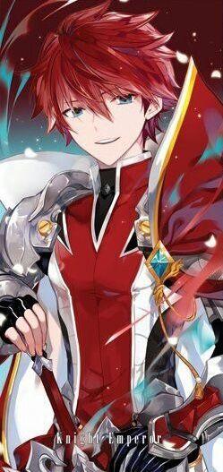 Anime Guy Red Hair Blue Eyes Red Armor Anime In 2019