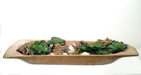 SUCCULENT GARDEN IN VINTAGE DOUGH BOWL.