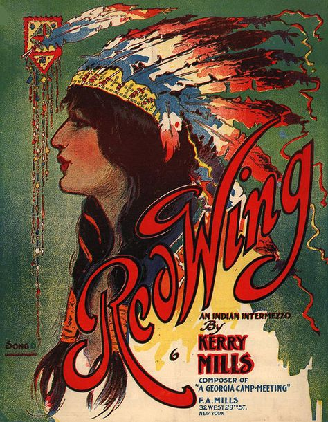 Shop Red Wing Indian Native American Music Art Print created by PaperTimeMachine.