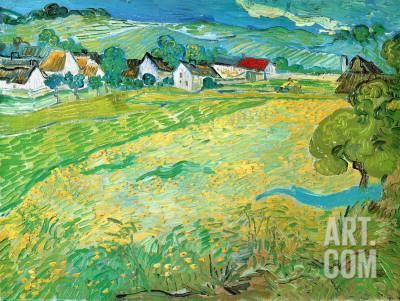 Sunny Meadow in Arles, c.1890 Art Print by Vincent van Gogh at Art.com