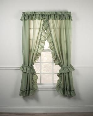 Stacey Ruffled Priscillas Ruffle Curtains Window Toppers