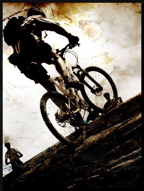 Mountain biking in the dirt