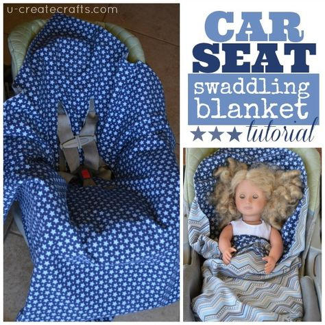 Car Seat Swaddling Blanket Tutorial