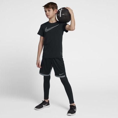 Nike Pro Older Kids' (Boys') Short-Sleeve Training Top - Black