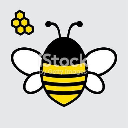 faba129e1598fa Bee icon. Yellow, black and white colors. Vector illustration ...