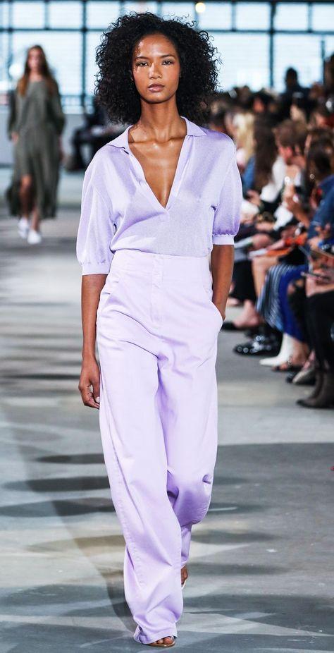 new york fashion week trends spring 2018 tibi lavender look 27