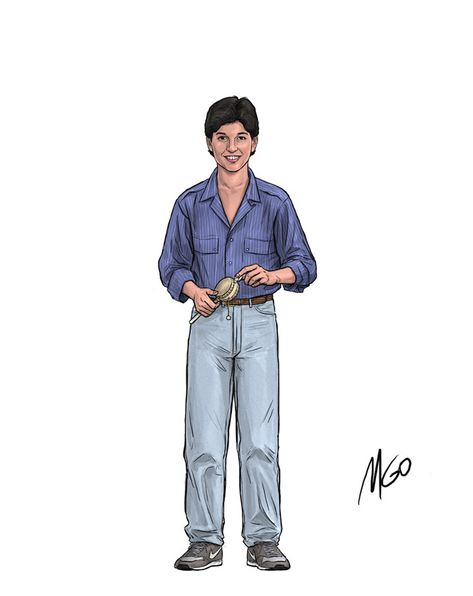 Page 01b The Karate Kid Cast of Characters illustrated by Marten Go