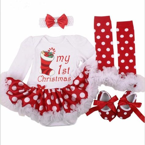 b862b99a0 Christmas Baby Costumes Cloth Infant Toddler Girls First Christmas Outfits  Newborn Christmas Romper clothing Set birthday gift Department Name: Baby  Item ...