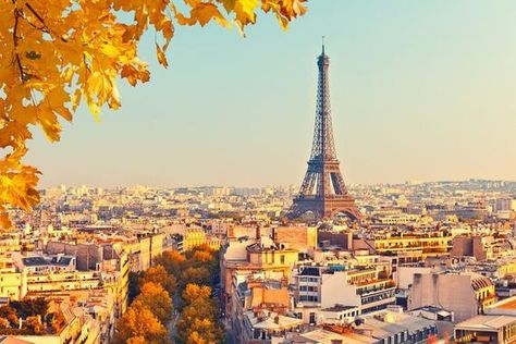 Eiffel Tower, Paris, France in Autumn A-91304 (Art Prints, Wood & Metal Signs, Canvas, Tote Bag, Tow
