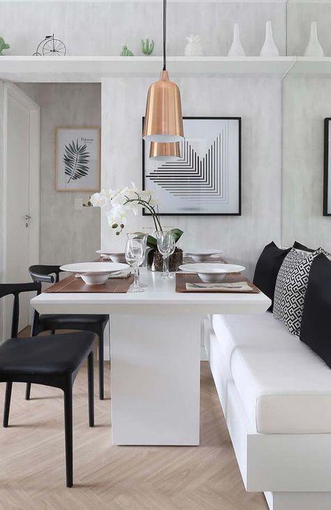 Sala De Jantar Com Canto Alemao Em 2019 Sala De Jantar Moderna